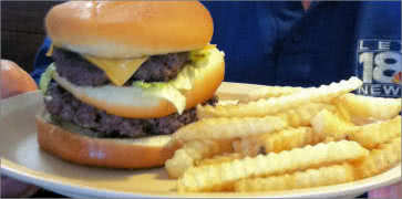 Smokey Valley Double Cheeseburger and Fries