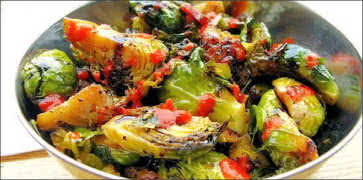 Brussel Sprouts with Sriracha Sauce