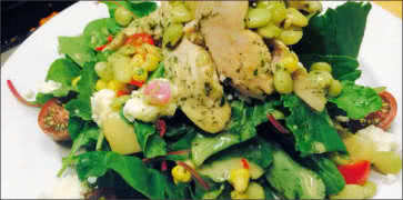 Summer Roasted Chicken and Kale Salad