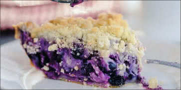 Blueberry Goat Cheese Basil Pie