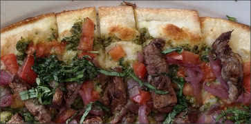 White Bean and Steak Pizza