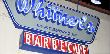 Whitners BBQ in Virginia Beach