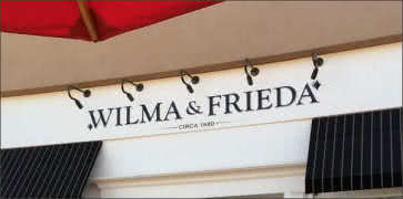 Wilma and Friedas Cafe in Palm Desert
