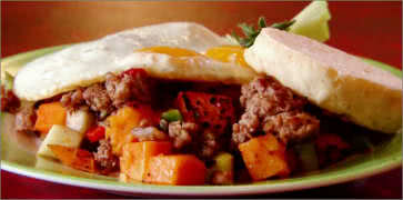 Winter Squash and Apple Hash Breakfast