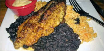 Catfish with Rice and Black Beans