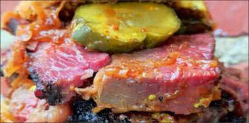 Thick Cut BBQ Pastrami Sandwich